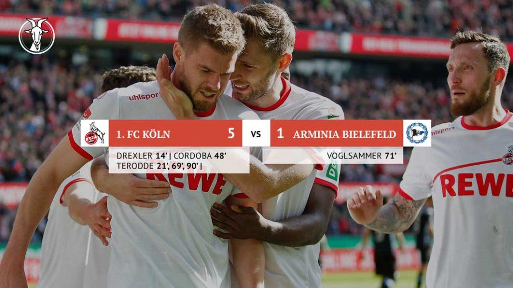 Simon Terodde schießt den FC zum Sieg über Bielefeld. (Foto: Mika Volkmann)
